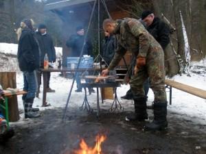 Grillen bei minus 3 Grad